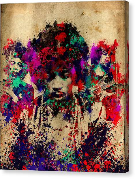 Jimi Hendrix Canvas Print - Hendrix 2 by Bekim Art