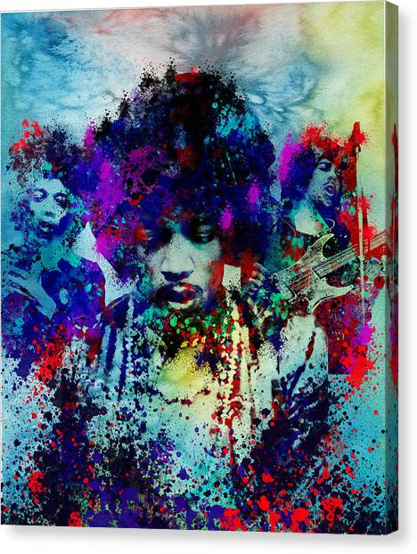Jimi Hendrix Canvas Print - Hendrix 3 by Bekim Art
