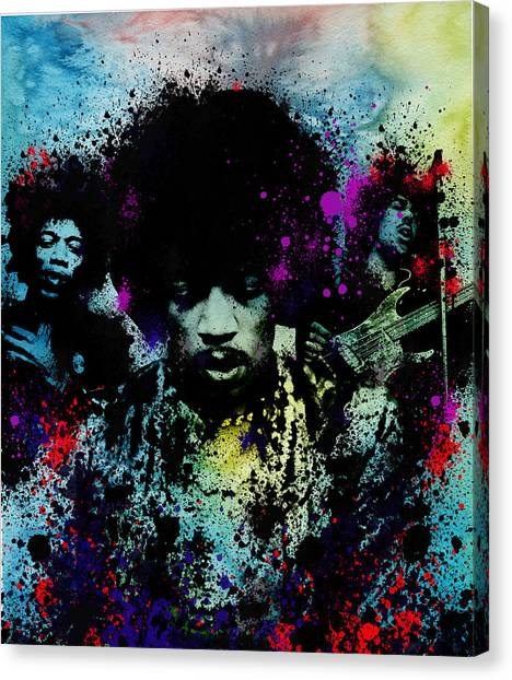 Jimi Hendrix Canvas Print - Hendrix 4 by Bekim Art