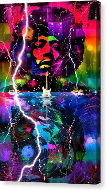 Hendrix Astro Man Canvas Print