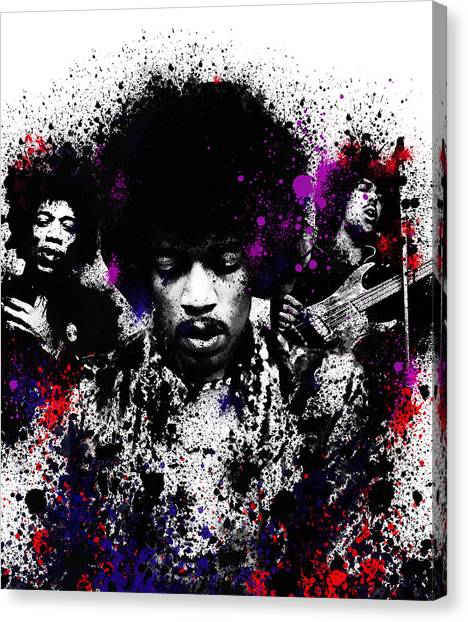 Jimi Hendrix Canvas Print - Hendrix by Bekim Art