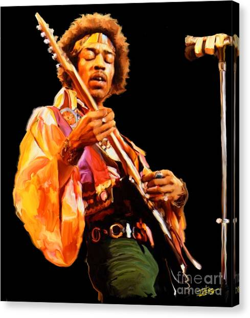 Throw Canvas Print - Hendrix by Paul Tagliamonte