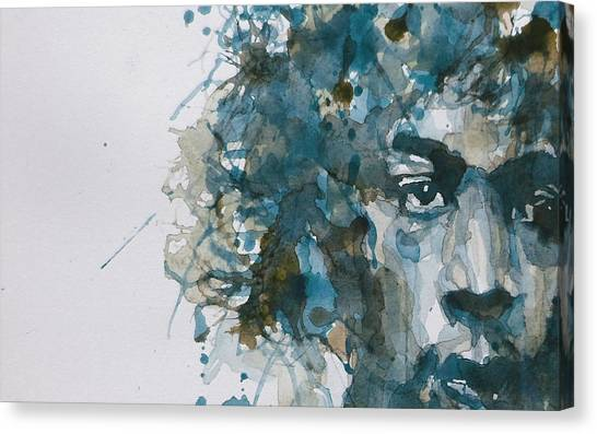 Jimi Hendrix Canvas Print - Hendrix Watercolor Abstract by Paul Lovering