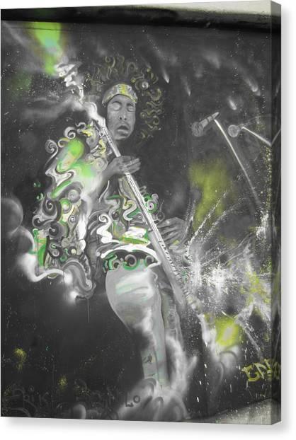 Hendrix X-ray #1 Canvas Print by Erik Franco