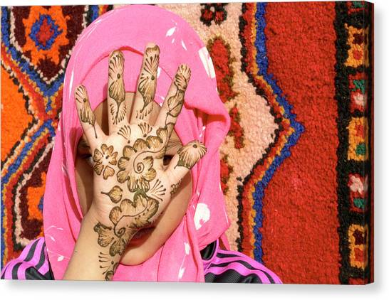 Henna Tattoo Canvas Print - Henna Tattoo by Thierry Berrod, Mona Lisa Production
