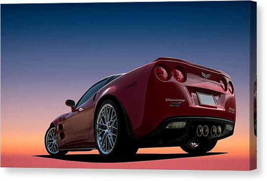 Chevy Canvas Print - Hennessey Red by Douglas Pittman