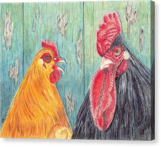 Henpecked Canvas Print