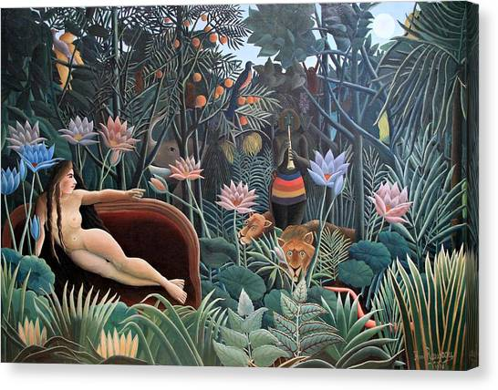 Henri Rousseau The Dream 1910 Canvas Print