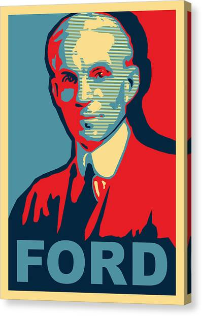 Ford Canvas Print - Henry Ford by Design Turnpike