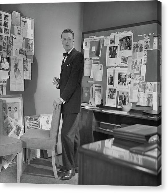 Flannel Canvas Print - Henry Lee Munson In A Business Suit by Horst P. Horst