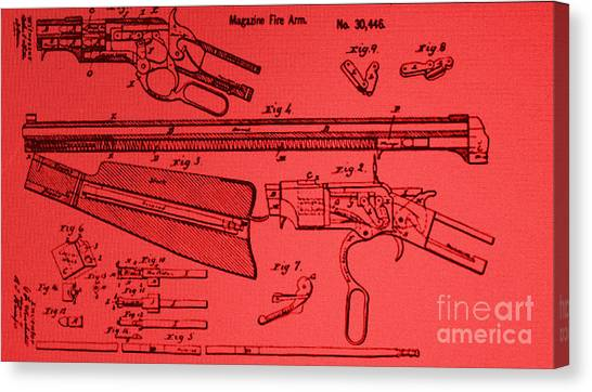 Henry Rifle Patent Drawing Canvas Print