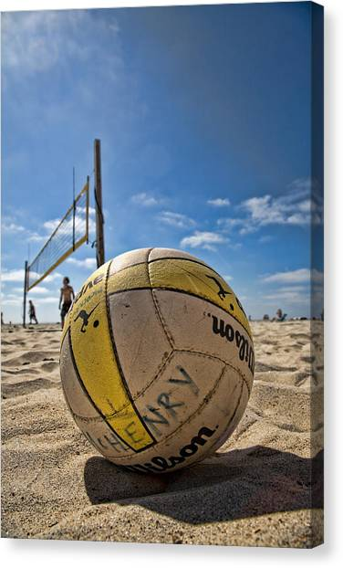 Volleyball Canvas Print - Henry Wilson by Peter Tellone