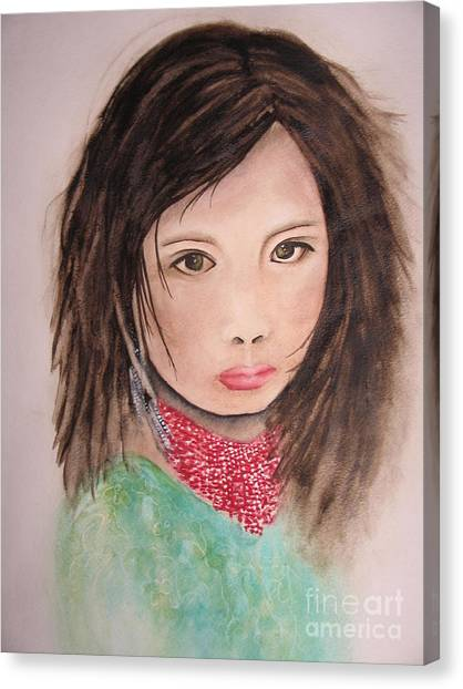 Her Expression Says It All Canvas Print