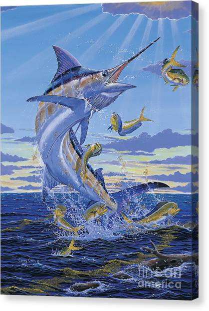 Spearfishing Canvas Print - Her Majesty Off0028 by Carey Chen