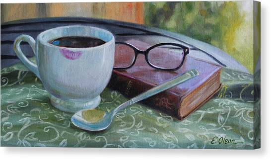 Her Morning Coffee Canvas Print