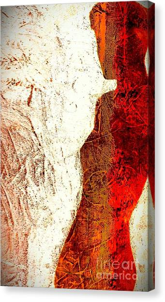 Her Red Silhouette Canvas Print