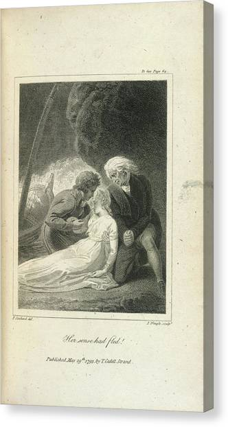 Unconscious Canvas Print - Her Senses Had Fled ! by British Library