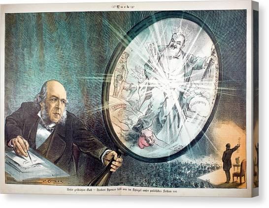 1880s Canvas Print - Herbert Spencer's Social Philosophy by Paul D Stewart