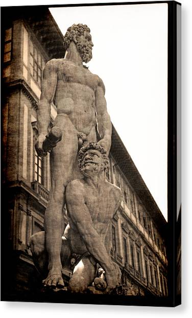 Hercules And Caucus In Florence Canvas Print