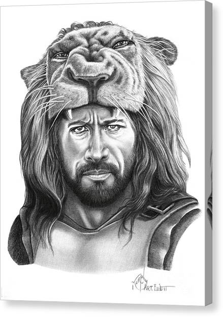 Dwayne Johnson Canvas Print - Hercules-dwayne Johnson by Murphy Elliott