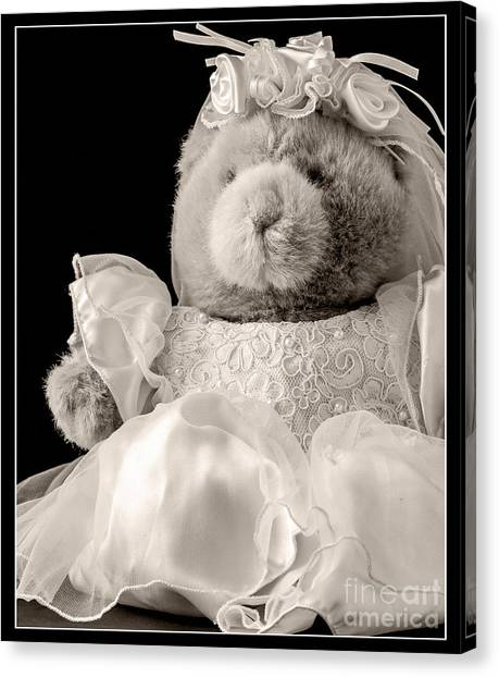 Bridal Canvas Print - Here Comes The Bride by Edward Fielding
