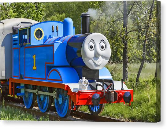 Thomas The Train Canvas Print - Here Comes Thomas The Train by Dale Kincaid
