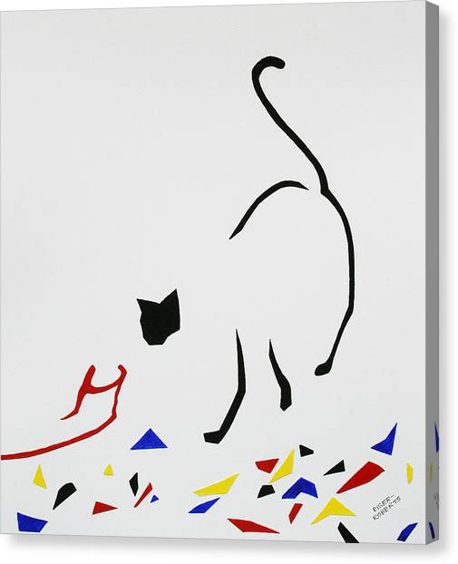 Here Kitty Kitty Canvas Print by Eve Riser Roberts