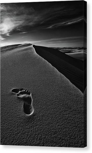 Feet Canvas Print - Here by Lydia Jacobs