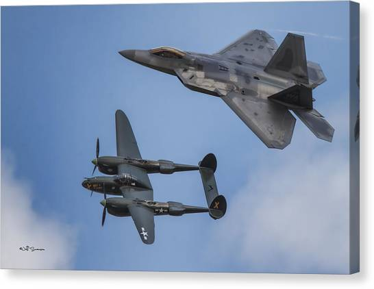 Here You Go Air Force Canvas Print