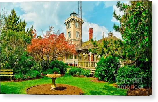 Hereford Inlet Lighthouse Garden Canvas Print