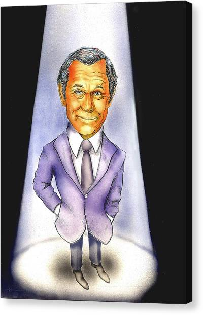 Johnny Carson Canvas Print - Here's Johnny by Todd Spaur
