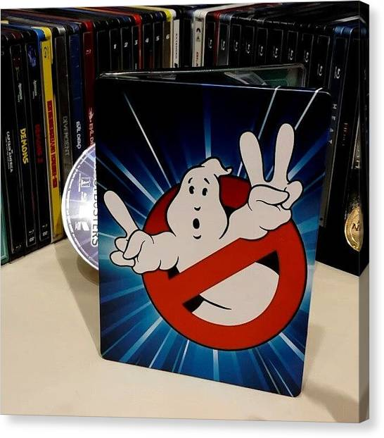 Ghostbusters Canvas Print - Here's The #ghostbusters @futureshop by Andrew Poirier
