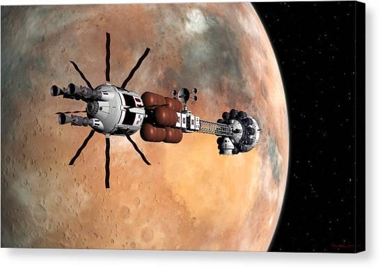 Hermes1 Mars Insertion Part 1 Canvas Print