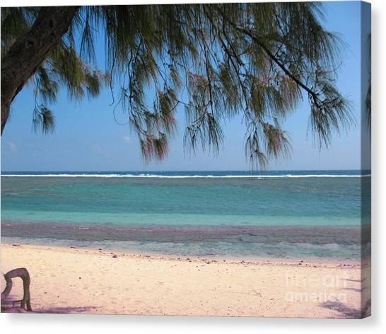 Hermitage - Ile De La Reunion - Reunion Island - Indian Ocean Canvas Print by Francoise Leandre
