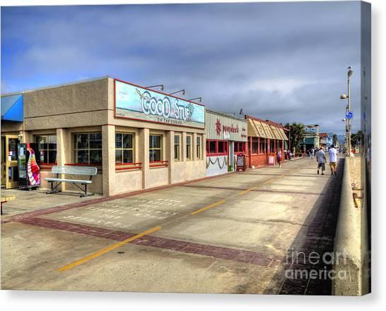 Hermosa Beach Boardwalk Canvas Print
