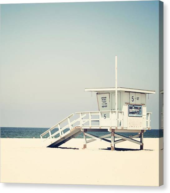 Los Angeles California Canvas Print - Hermosa Beach  by Bree Madden