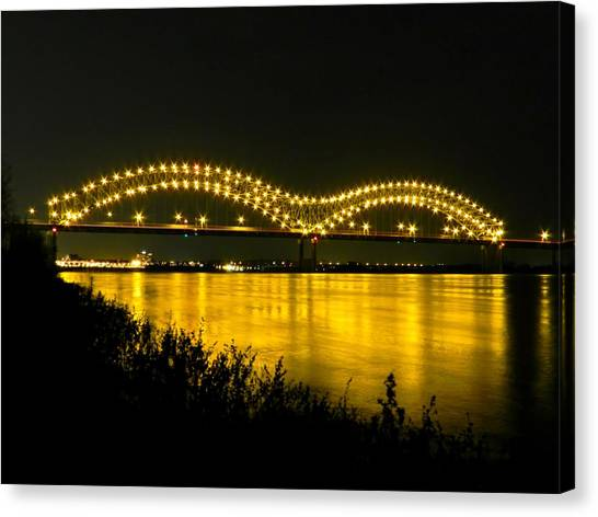 Hernando De Soto Bridge 002 Canvas Print