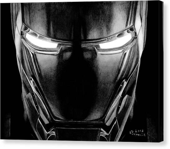 Pulsar Canvas Print - Hero In Shining Iron by Kayleigh Semeniuk