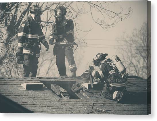 Firefighters Canvas Print - Heroes by Laurie Search