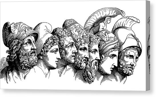 Heroes Of The Trojan War Canvas Print by Bildagentur-online/th Foto/science Photo Library