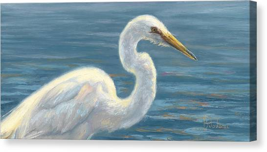 Heron Canvas Print - Heron Light by Lucie Bilodeau