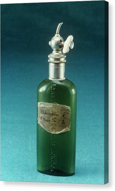 1880s Canvas Print - Hewitt Drop Bottle by Science Photo Library