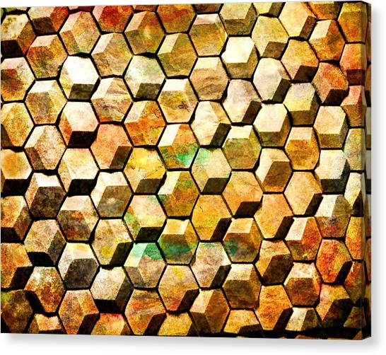 Hexacubes Canvas Print