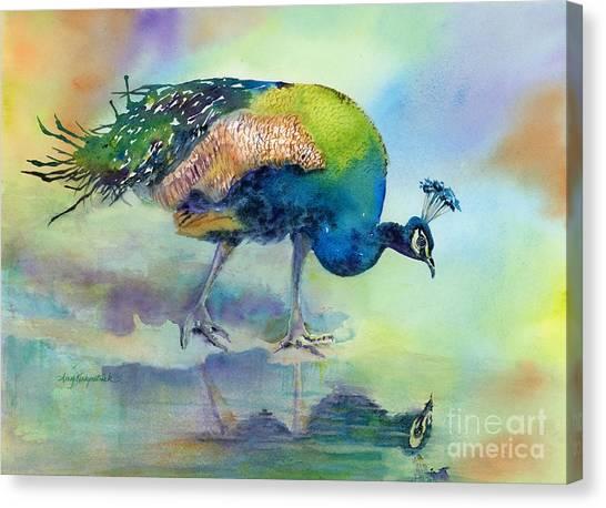 Peacocks Canvas Print - Hey Good Lookin by Amy Kirkpatrick