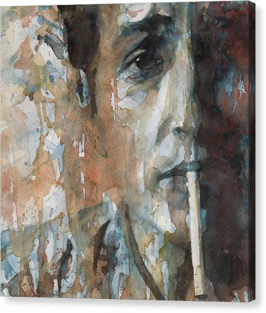 Bob Dylan Canvas Print - Hey Mr Tambourine Man by Paul Lovering
