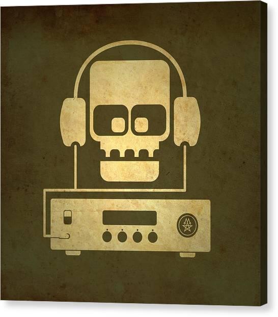 Hi Fi Skull Canvas Print