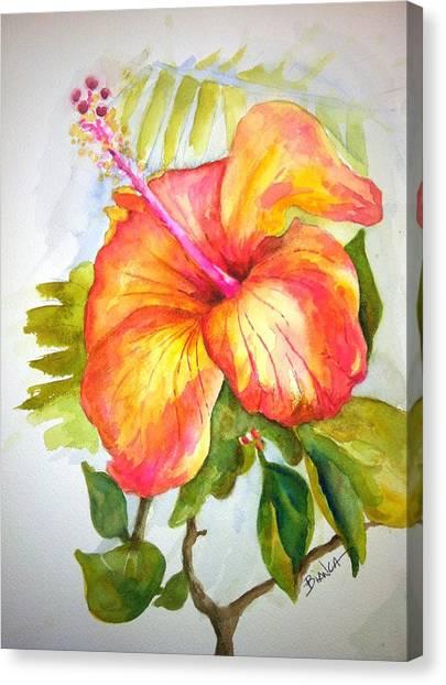 Hibiscus Canvas Print by Bianca Romani