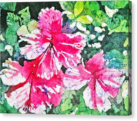 Hibiscus In The Sun Canvas Print
