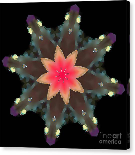 Hibiscus Mandala Canvas Print
