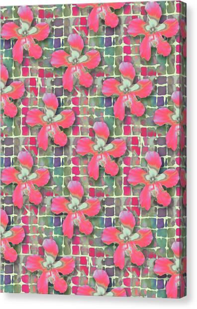 Hibiscus Pink Water Canvas Print
